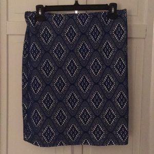 Layered royal blue skirt